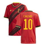 2020-2021 Belgium Home Adidas Football Shirt (Kids) (E HAZARD 10)