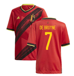 2020-2021 Belgium Home Adidas Football Shirt (Kids) (DE BRUYNE 7)