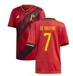 2020-2021 Belgium Home Adidas Football Shirt (DE BRUYNE 7)