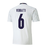 2020-2021 Italy Away Puma Football Shirt (VERRATTI 6)