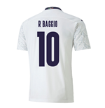2020-2021 Italy Away Puma Football Shirt (R BAGGIO 10)