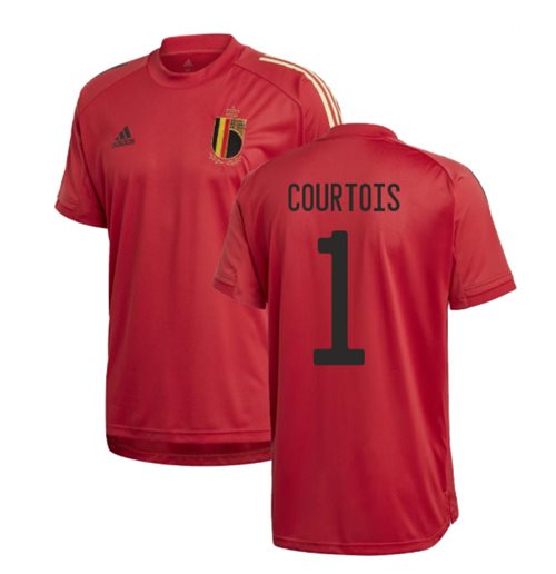 2020-2021 Belgium Adidas Training Shirt (Red) (COURTOIS 1)