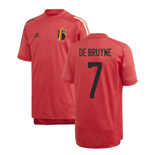 2020-2021 Belgium Adidas Training Shirt (Red) - Kids (DE BRUYNE 7)