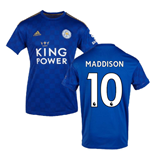 2019-2020 Leicester City Home Football Shirt (MADDISON 10)
