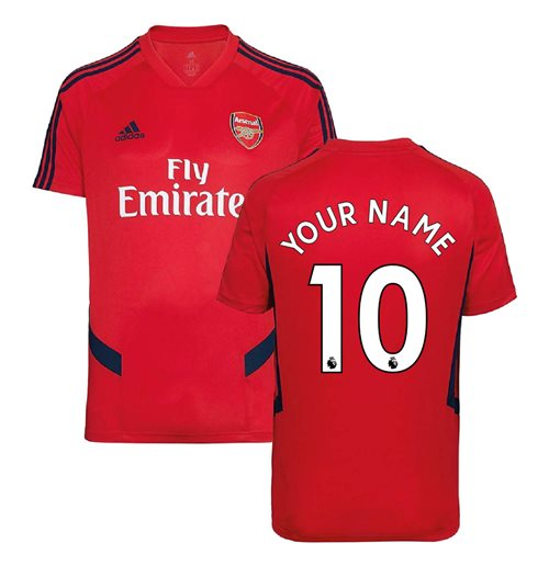 2019-2020 Arsenal Adidas Training Shirt (Red) - Kids (Your Name)