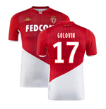 2019-2020 AS Monaco Kappa Home Shirt (GOLOVIN 17)