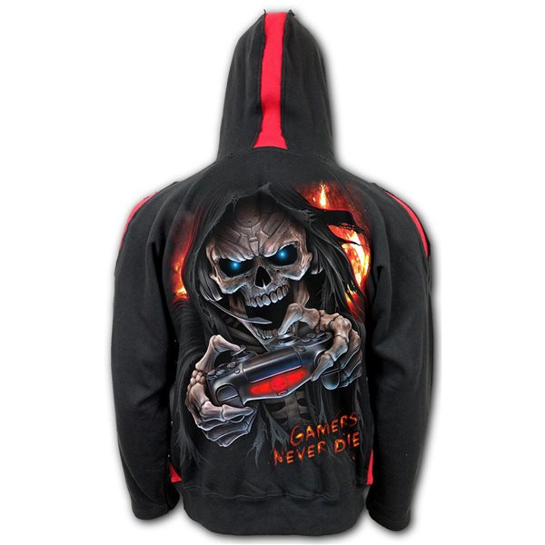 Respawn - Red Ripped Hoody Black (Plain)