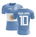 2018-2019 Argentina Flag Concept Football Shirt (Your Name)