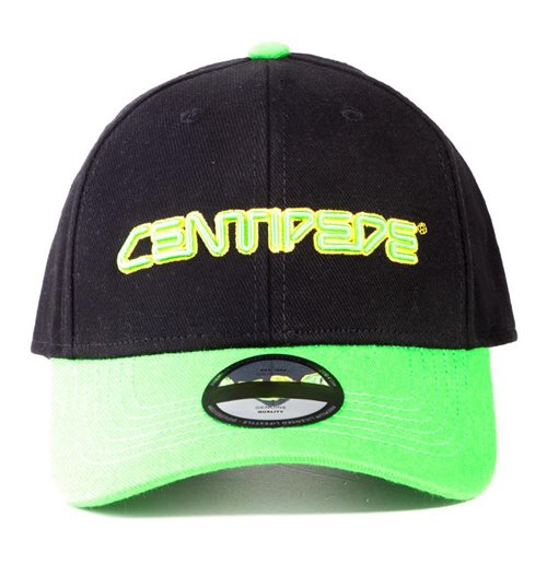 ATARI Centipede Logo Adjustable Cap, Unisex, Black/Green