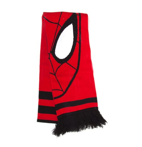 MARVEL COMICS The Amazing Spider-man Face Print Knitted Scarf, Unisex, Red/Black