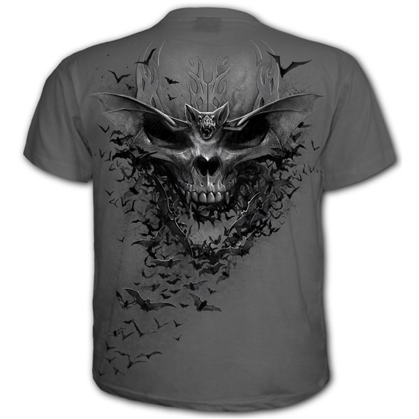 Bat Skull - T-Shirt Charcoal (Plain)