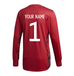 2020-2021 Germany Home Adidas Goalkeeper Shirt (Your Name)