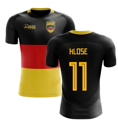 2018-2019 Germany Flag Concept Football Shirt (Klose 11)