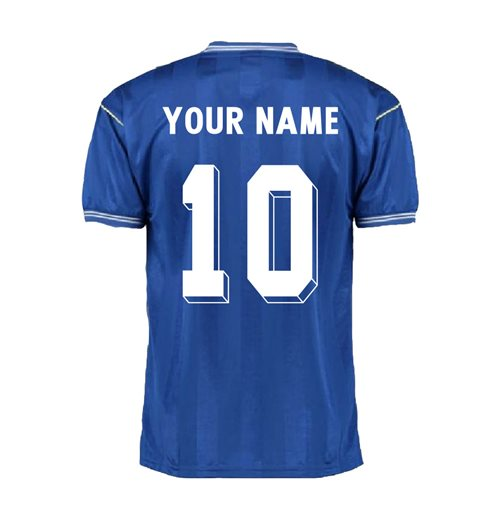 Score Draw Everton 1986 Home Shirt (Your Name)