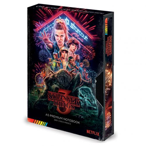 Stranger Things Premium Notebook VHS S3