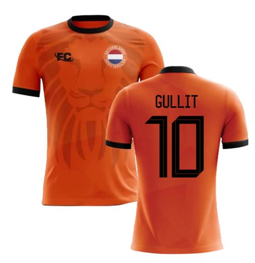 2018-2019 Holland Fans Culture Home Concept Shirt (GULLIT 10)