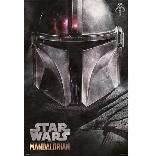 Star Wars The Mandalorian Helmet Maxi Poster