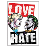 Harley Quinn and Joker Love and Hate Magnet