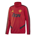 2019-2020 Man Utd Adidas Warm Top (Red)