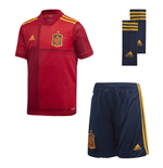 2020-2021 Spain Home Adidas Youth Kit