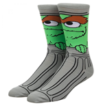 Sesame Street Oscar the Grouch 360 Character Crew Sock