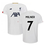 2019-2020 Liverpool Pre Game Jersey (White) (Milner 7)