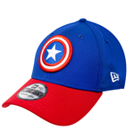 Captain America Red and Blue New Era 39Thirty Fitted Hat