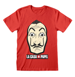 La Casa De Papel (Money Heist): Mask And Logo T-shirt (Unisex)