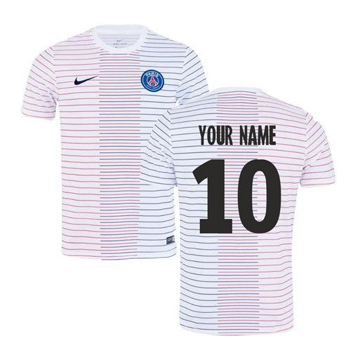 2019-2020 PSG Nike Pre-Match Training Shirt (White) (Your Name)