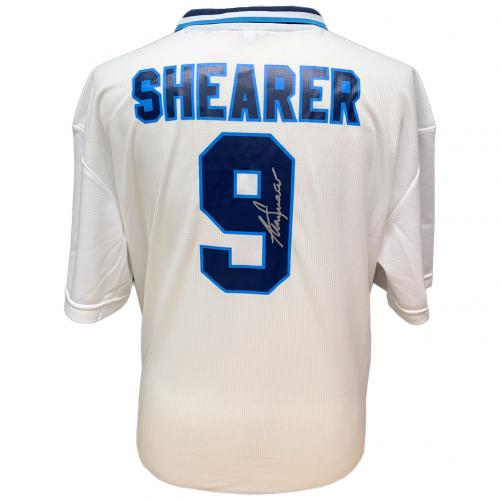 England FA Shearer Signed Shirt