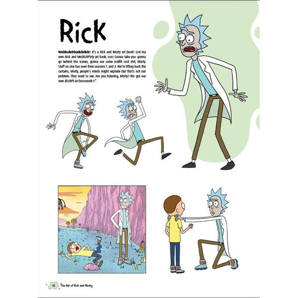 Rick and Morty Art Book The Art of Rick and Morty *English Version*