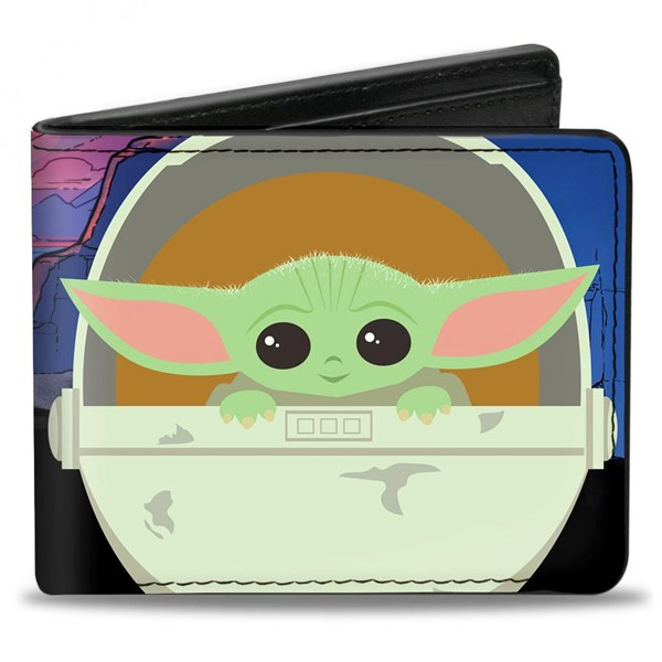 The Mandalorian Baby Yoda Chibi Pod Vegan Leather Wallet