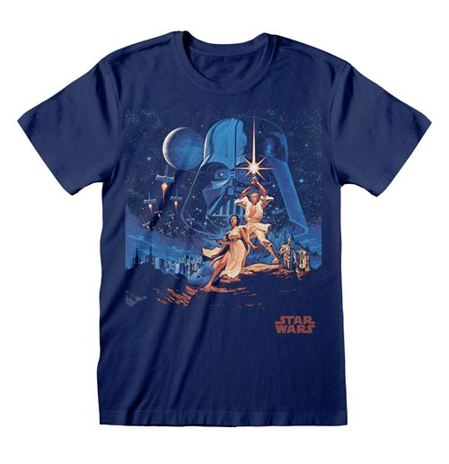 Star Wars T-Shirt New Hope Vintage Poster