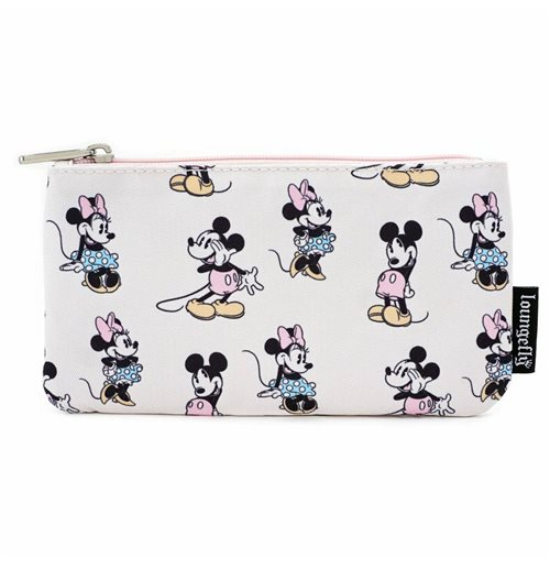 Disney by Loungefly Coin/Cosmetic Bag Pastel Minnie Mickey AOP