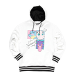 POKEMON Characters Group PopArt Hoodie, Female, Large, White/Black