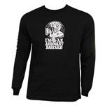 ARROGANT BASTARD Ale Not Worthy Long Sleeve Black Graphic Tee Shirt