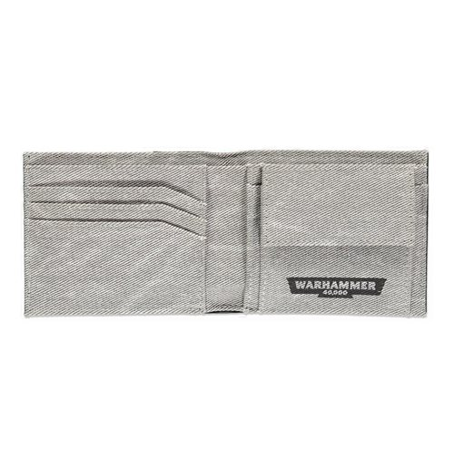 WARHAMMER 40K Only War Phrase Bi-fold Wallet, Male, Black/Grey