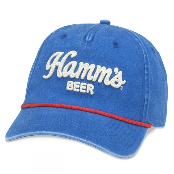 Hamm's Beer Embroidered Logo Snapback Hat