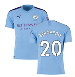 2019-2020 Manchester City Puma Home Football Shirt (BERNARDO 20)
