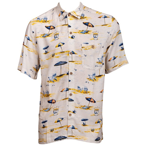 Corona Bucket Beach Button Up Hawaiian Shirt