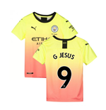 2019-2020 Manchester City Puma Third Football Shirt (Kids) (G Jesus 9)