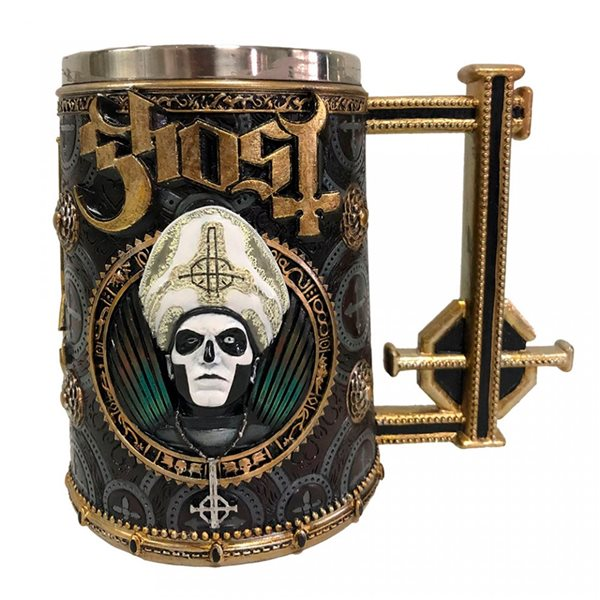 Ghost Tankard ( Stainless Steel & Resin ) Gold Meliora (TANKARD)