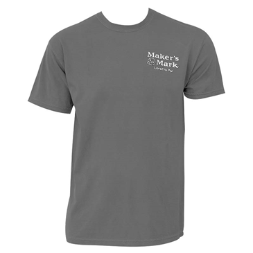 MAKER'S MARK Bottle Design Two-Sided Grey Graphic TShirt