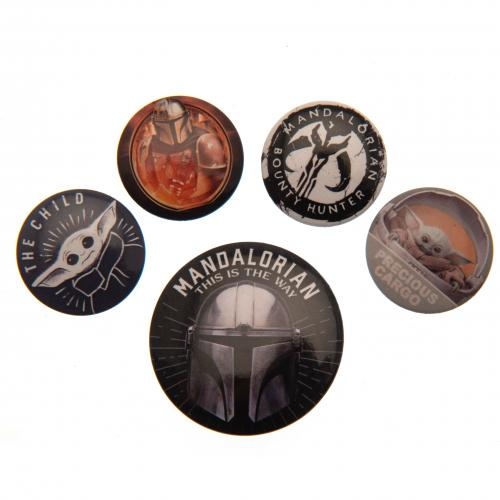 Star Wars The Mandalorian Button Badge Set