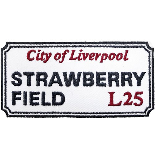 Road Sign Standard Patch: Strawberry Field, Liverpool Sign
