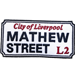 Road Sign Standard Patch: Mathew Street, Liverpool Sign