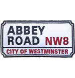 Road Sign Standard Patch: Abbey Road, NW London Sign