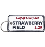 Road Sign Keychain: Strawberry Field, Liverpool Sign (Double Sided Patch)