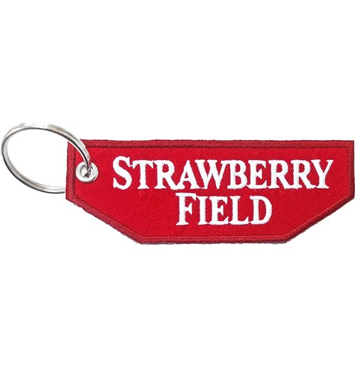 Road Sign Keychain: Strawberry Field (Double Sided Patch)