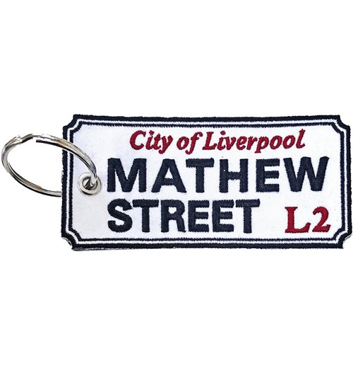 Road Sign Keychain: Mathew Street, Liverpool Sign (Double Sided Patch)